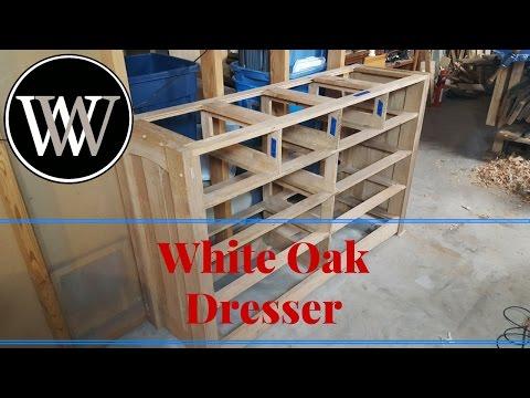 Hand Tool White Oak Dresser Part 6 Carcass Frame Mission Craftsman