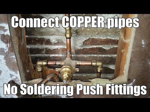 Connect COPPER pipes with SHARKBITE PUSH Fittings - NO SOLDERING - SYMMONS Shower Valve Installation