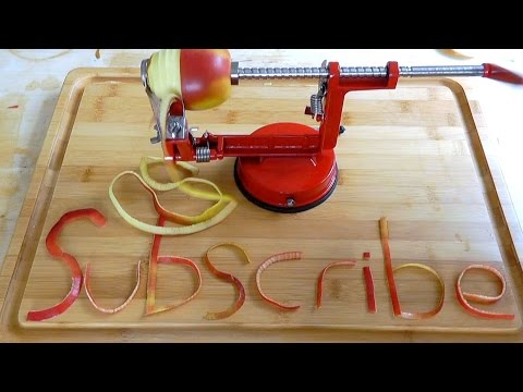 How to peel core slice apples 3 in 1 Kitchen Gadget Christmas present idea