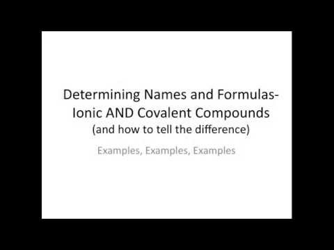 Examples of Naming Ionic and Covalent Compounds - Chemistry Tutorial