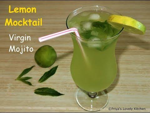 Virgin Mojito Recipe  Mint Lemonade Recipe   Easy Lemon Mocktail Recipes
