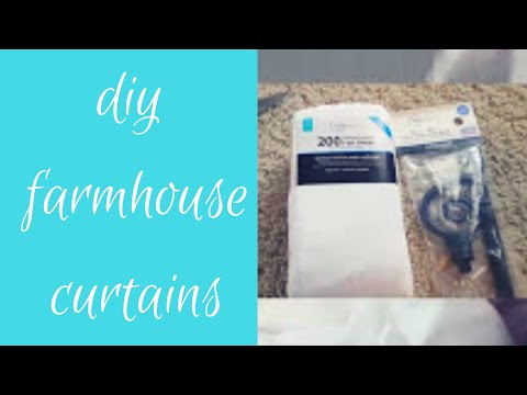 DIY FARMHOUSE INSPIRED CURTAINS!
