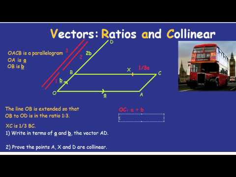 Vectors: Ratios and Collinear