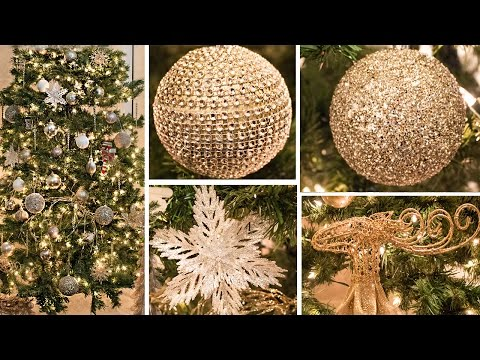 DECORATE WITH ME | CHRISTMAS TREE HOW TO Gold, White, Champagne