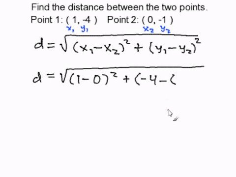 Finding the Distance Between Two Points