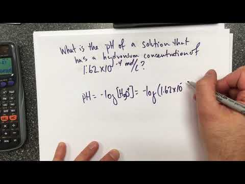 Calculating pH From Hydronium Ion Concentration