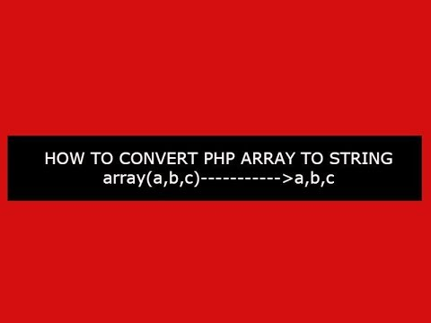 How to convert php array to string