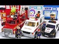Playmobil Police Car Ambulance Fire Truck Move Lets Arrest The Villain PinkyPopTOY