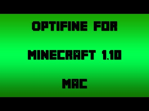 How To Install Optifine For Minecraft 110 Mac