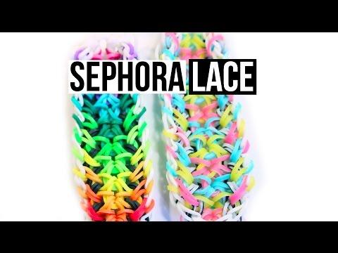 Rainbow Loom Sephora Lace Bracelet Tutorial |