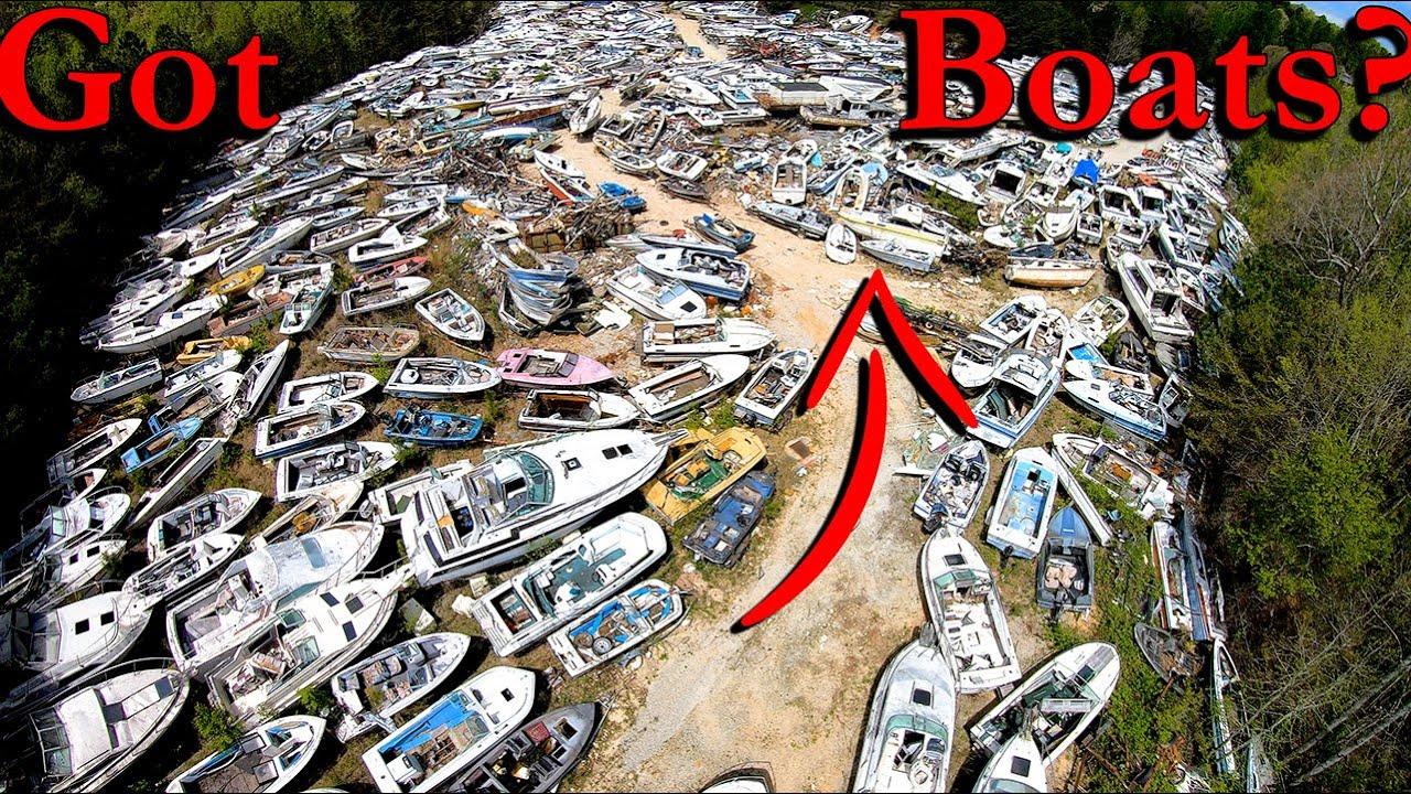 Visiting A Boat GRAVEYARD!!!