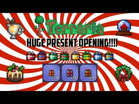 Terraria ios 1.2.4 | Huge Present opening!!! (300+) Christmas Special Part 1