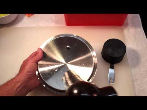Calcium deposits vanish with vinegar.