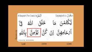 Surah Al Baqarah, The Cow, Surah 002, Verse 228, Learn Quran word by word translation