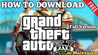 #HowToDownloadGTA-V Full Version For Free Without Steam In Malayalam Mutant Gaming
