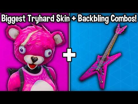 10 TRYHARD SKIN + BACKBLING COMBOS in Fortnite! (tryhard cosmetic combos!)