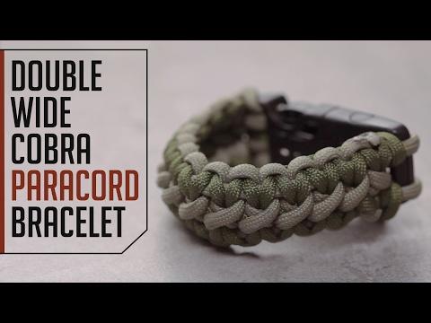 Double Wide Cobra Paracord Bracelet Tutorial