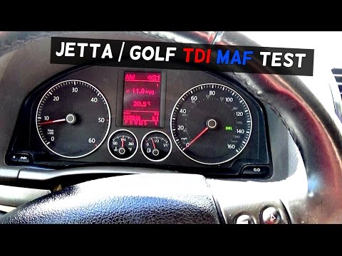 VW JETTA GOLF TDI MK5 MAF TEST with MAXISYS based n VCDS