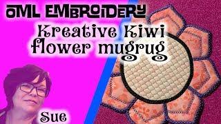 Kreative Kiwi machine embroidery in the hoop (ITH) Mandala