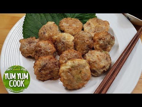 Beef Pancakes (Korean Street Food: Meat Jeon) | YumYumCook