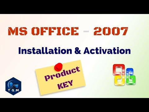 How to || Activate MS Office 2007 ||  Install Microsoft Office 2007 || With Product KEY