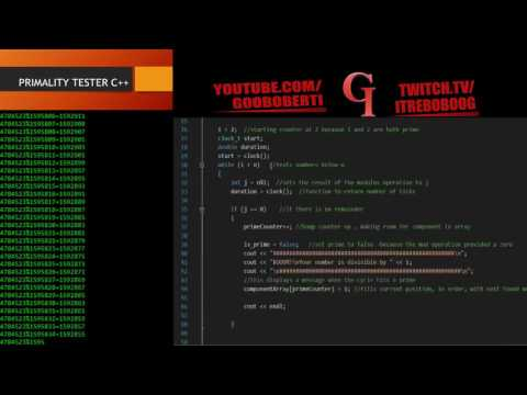 C++ Prime Number Tester Programming Tutorial with Source Code
