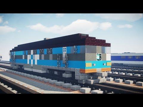 Minecraft Estonia GoRail TEP70 Locomotive Tutorial