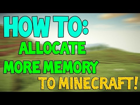 How to Allocate More Memory(RAM) to Minecraft 1.8!!! (64 bit only) (WORKING) HD
