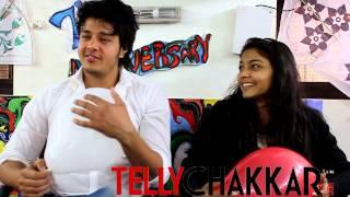 Aniruddh Dave and Pooja Sharma in the office of Tellychakkar.com