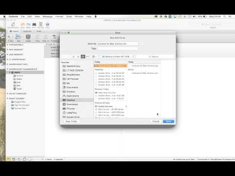 Backup af emails Outlook 2011