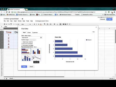 Make a line graph in Google Sheets - spring 2013
