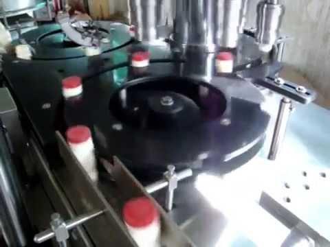 Six Head Screw Capping Machine , Rotary Chuck Capper machine , Screw capper