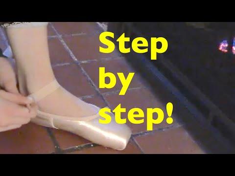 Preparing Pointe Shoes