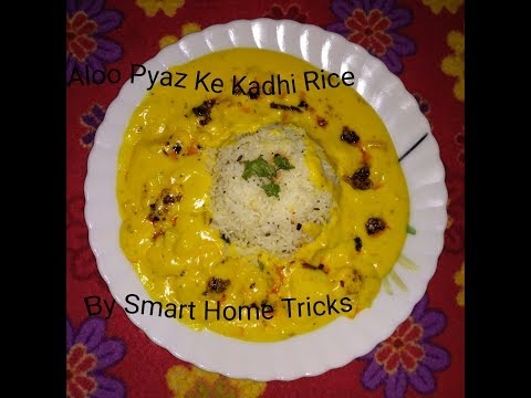 How to make aloo wali kadhi - Aloo pyaz ka Jhol - Sabzi wali besan Kadhi ki recipe