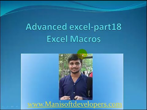 Advanced Excel in tamil part18- Excel Macros