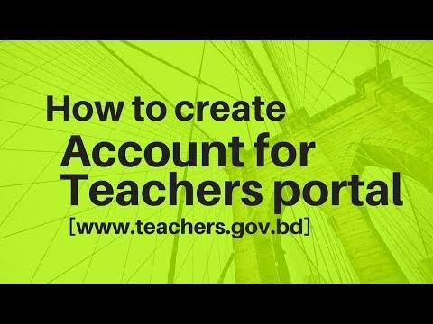 How to create account on teachers portal |Bangla Tutorial|