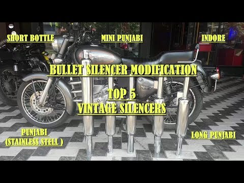 Royal Enfield Bullet Silencer Modification Tips - Testing The Top 5 Vintage Silencers