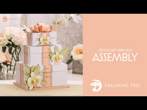 SVG File - Orchid Gift Card Box - Assembly Tutorial