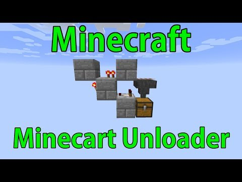 How to Build a Minecart Unloader in Minecraft!