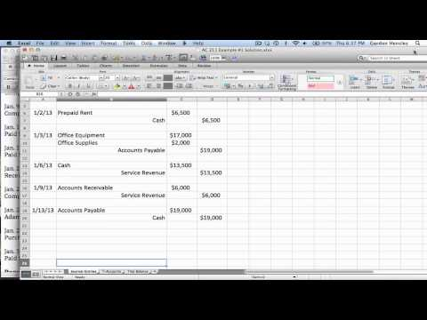 Intermediate Journal Entries, T-Accounts, and Trial Balance Demonstration Part 1