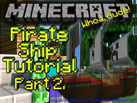 Pirate Ship Tutorial Part 2 (Front) Minecraft Xbox Edition!!!!