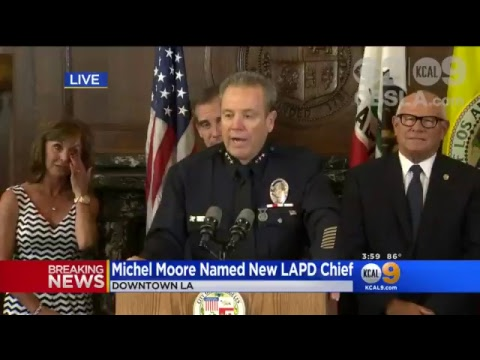 LIVE: New LAPD Chief Michel Moore Introduced