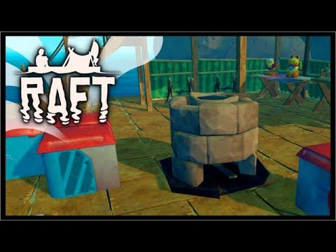 MAKING A SMELTER & UNLOCKING ADVANCED ITEMS! | Raft Survival Gameplay