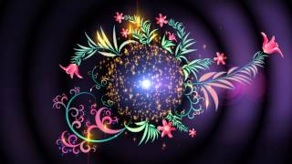 4K UHD Floral Magic Intro Animation Screen Background