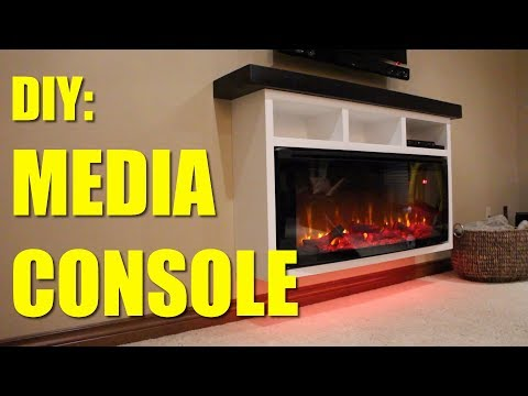How To Build A Electric Fireplace Media Console