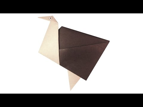 Easy Origami Ostrich