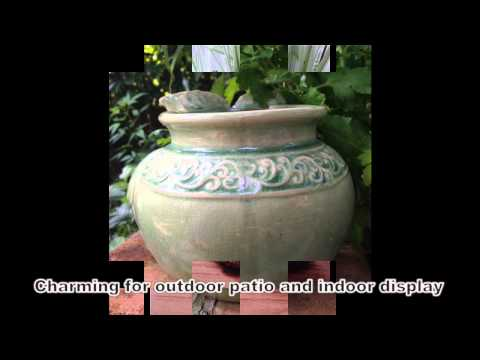 Hand painted ceramic wise old owl planter