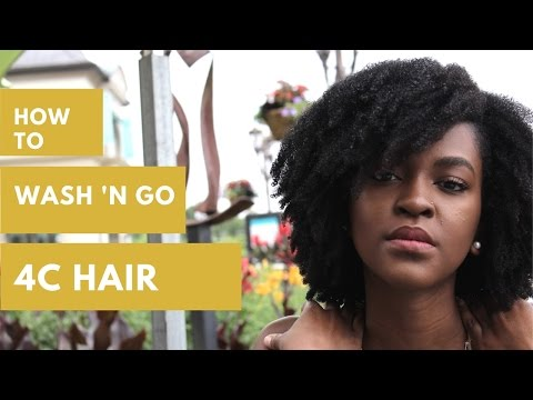 HOW TO | Wash 'n Go Forreal (4C Hair)