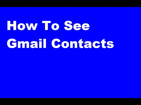 How To See Gmail Contacts In Telugu