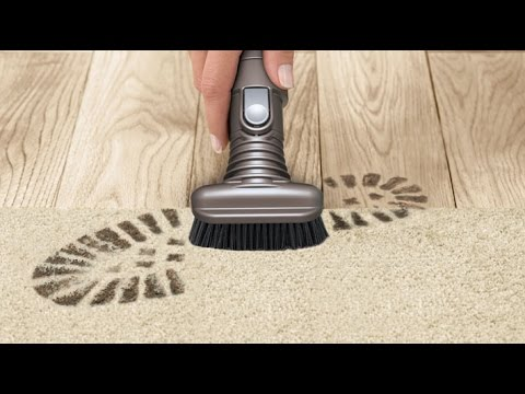 Dyson Stubborn dirt brush / Stiff bristle brush - Official Dyson video
